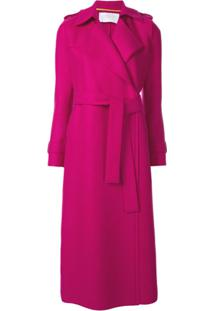 Harris Wharf London Trench Coat Com Cinto - Roxo