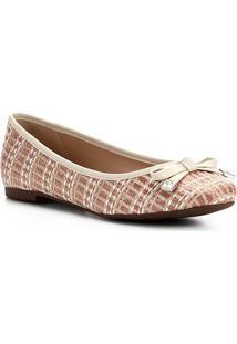Sapatilha Shoestock Laço Ráfia - Feminino-Coral