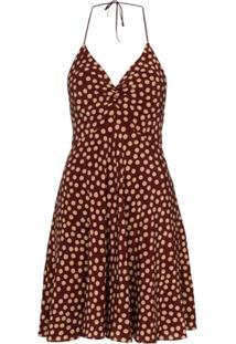 Saint Laurent Polka-Dot Mini Dress - Vermelho