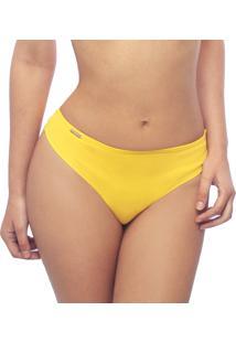 Calcinha Praia Cintura Alta Estigma Moda Fio Dental Amarelo