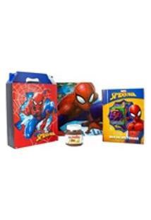 Kit Box De Histórias, Caixa, Jogo Americano Spider Man E Nutella140G