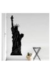 Adesivo De Parede Estátua Da Liberdade Silhueta - Eg 172X60Cm