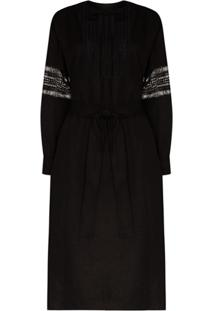 Low Classic Vestido Com Renda Frontal - Preto