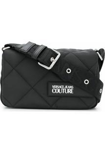 Versace Jeans Couture Bolsa Tiracolo Matelass㪠- Preto