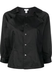 Comme Des Garçons Comme Des Garçons Cropped Sleeves Shirt Jacket - Preto