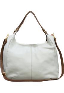 Bolsa Sn Couros Suiã§A Marfim/Caramelo - Branco/Off-White - Feminino - Dafiti