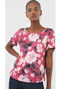 Camiseta Lança Perfume Floral Rosa - Kanui