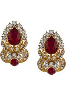 Dolce & Gabbana Par De Brincos Com Aplicações - Dourado