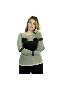 Blusa Feminina Tricot Inverno Antonela Shopping Do Tricô Linha