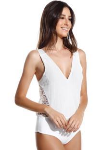 Body Le Lis Blanc Fatima Tricot Off White Feminino (Off White, Gg)