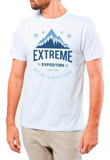 Camiseta Masculina Eco Canyon Extreme Expedition Branco
