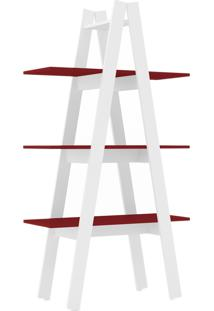Estante Escada Com 3 Prateleira Branco/V