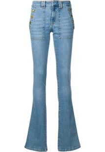 Victoria Victoria Beckham Calça Jeans Slim Flare - Azul