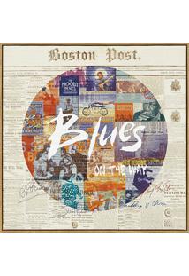 Quadro Em Canvas Colagem Blues 40Cm