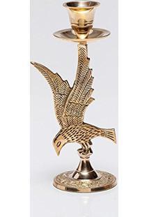 Porta Velas 17Cm Águia Dourado Prestige