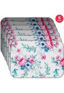 Jogo Americano Love Decor Wevans Floral Premium Kit Com 6 Pçs - Kanui