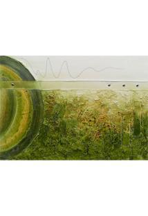 Quadro Artesanal Com Textura Abstrato I Verde 70X100 Uniart