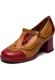 Sapato Mzq Grace Kelly - Amora/Tamarindo/Jatobá - 5828