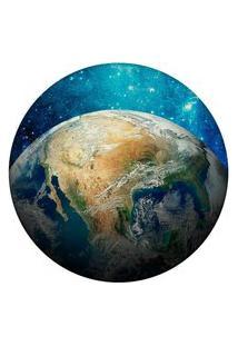 Tapete Love Decor Redondo Wevans World Azul 94Cm