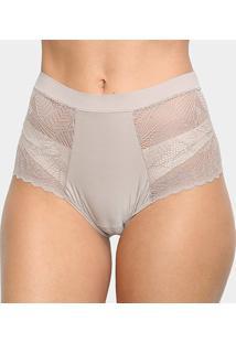 Calcinha Hot Panty Liz Com Renda 50906 - Feminino-Marrom