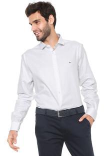 Camisa Aramis Reta Estampada Branca