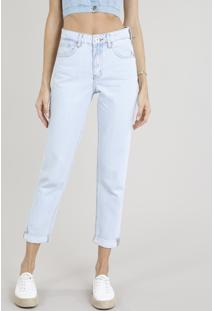 Calça Jeans Feminina Mom Azul Claro