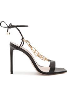 Sandália Lace-Up Chain Black   Schutz