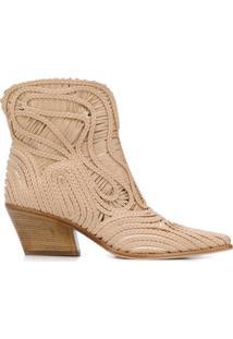 Le Silla Ankle Boot Charlize Com Salto Bloco - Neutro