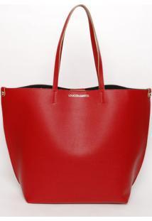 Bolsa Lisa Com Inscriã§Ã£O- Vermelha- 34X30X16Cmloucos E Santos