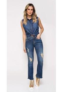 Calça Jeans Express Flare Curta Leticia Feminina - Feminino