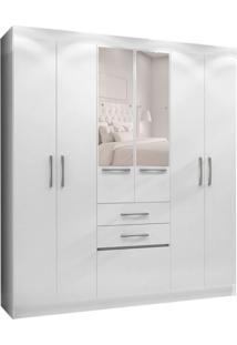 Guarda-Roupa Solteiro Com Espelho Porto 7 Pt 2 Gv Branco