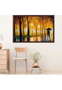 Quadro Love Decor Com Moldura Caminho Das ÁRvores Madeira Escura Mã©Dio - Multicolorido - Dafiti