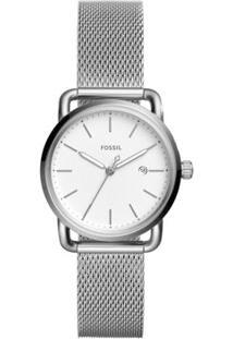 Relógio Fossil Feminino Ladies The Commuter - Es4331/1Kn Es4331/1Kn - Feminino-Prata