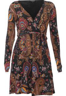 Vestido Desigual Curto Cira Preto - Kanui