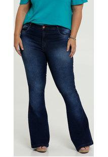 Calça Jeans Flare Feminina Plus Size Uber Jeans