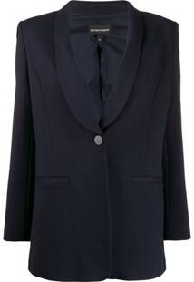 Emporio Armani Blazer Com Abotoamento Simples - Azul