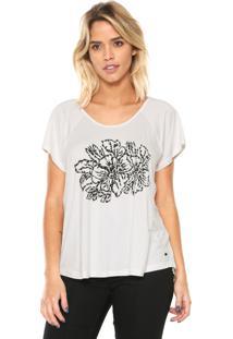 Camiseta Mob Floral Off-White