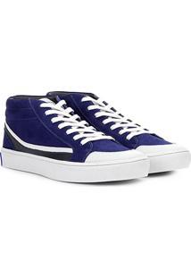 Tênis Couro Cano Alto Calvin Klein Masculino - Masculino-Azul