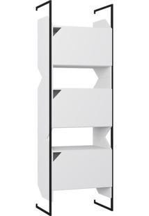 Estante Com Portas & Suporte- Branco- 189X63X31,2Cmbentec