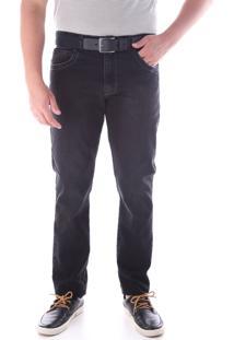 Calça 2198 Jeans Preto Traymon Modelagem Slim
