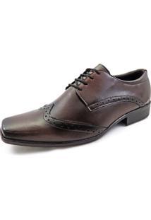 Sapato Social Masculino La Faire At10 Marrom Brown