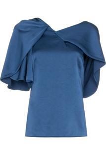 Peter Pilotto Blusa Assimétrica - Azul