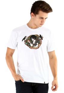 Camiseta Ouroboros Manga Curta Branca De Neve - Masculino
