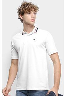 Camisa Polo Tommy Jeans Classics Stretch Masculina - Masculino-Branco