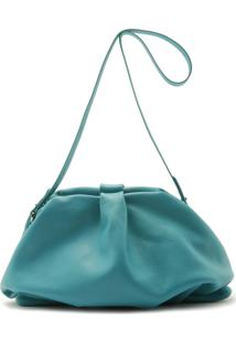 Maxi Clutch Avril Leather Pop Green | Schutz