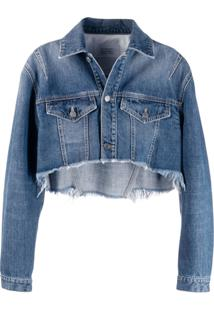 Givenchy Jaqueta Jeans Cropped - Azul