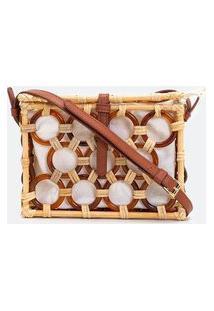 Bolsa Modelo Transversal Com Bambu   Satinato   Bege   U