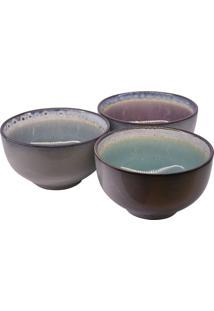 Bowl Limone Jogo C/3 Peças Em Cerâmica Tigela