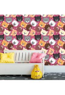 Papel De Parede Ursinhos Cute Pink