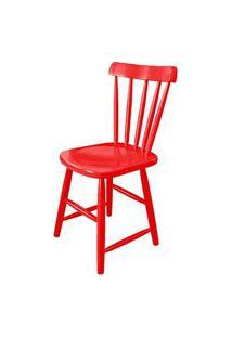 Cadeira Skand Assento Escavado Cor Vermelha - 33368 Vermelho